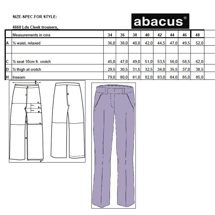 679b91c1 Abacus Ladies Cleek Stretch Bukser Sort - Dame Bukser - Golf Network  Denmark ApS