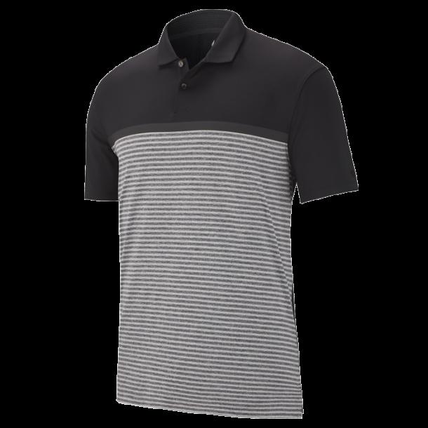 Nike TW Dry Vapor Stripe Block Polo Black