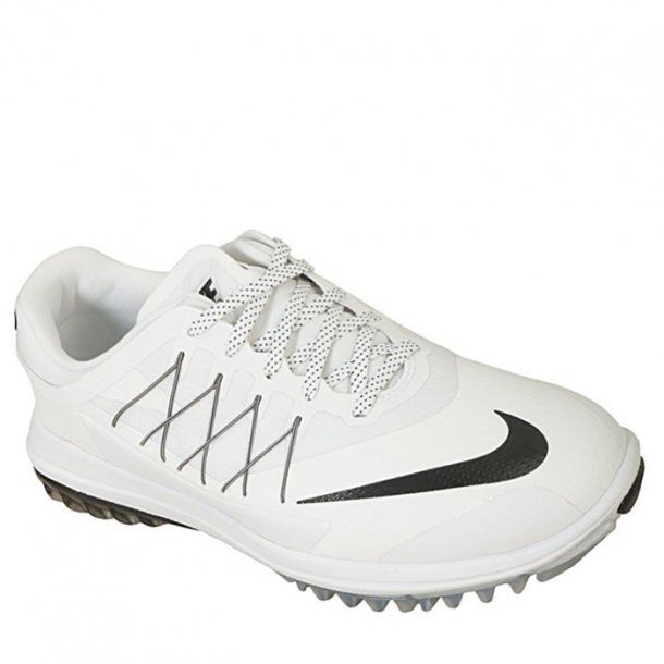 Nike Men's Lunar Control Vapor Golf Shoe White/White-Metallic Silver