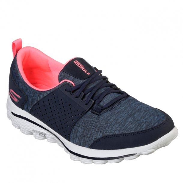 Skechers Womens Go Walk 2 Golf Sugar Navy/Pink