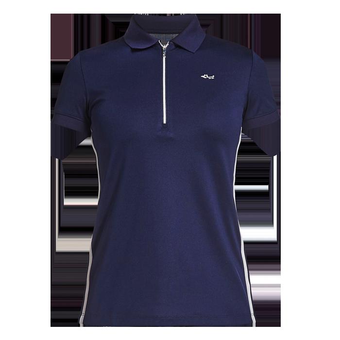 67622f17 Röhnisch Stripe Poloshirt Indigo Night - Dame Polo - Golf Network Denmark  ApS