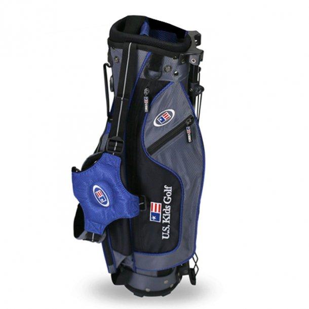 US Kids Golfbag Grå/Blå (107 - 122 cm.)